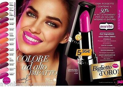 Avon True Colour Technology Rossetto Colore Semprevivo Bold Vari Colori Entra