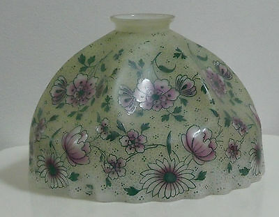 beautiful antique decorated glass lamp shade