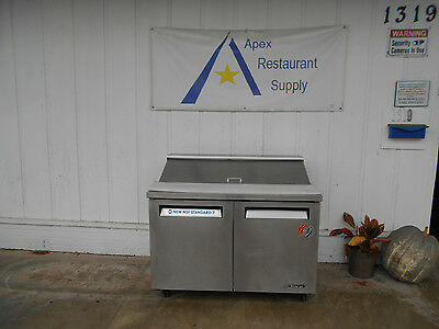"""Turbo Air TST48 48"""" Refrigerated Sandwich/Salad/Pizza Prep Table #1911"""