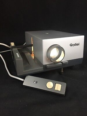 Vintage Rollei P35E German Slide Projector With Remote Working Lamp Lens