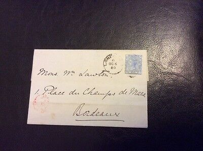 Victoria Plate 19 1880 Blue 2 1/2d on Cover