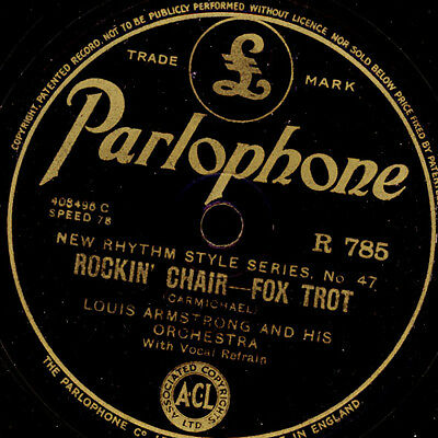 LOUIS ARMSTRONG & HIS ORCH. Rockin' chair /CORNELL & ORCH. Collegiate love  X896