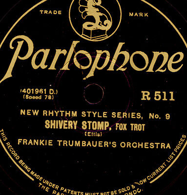 FRANKIE TRUMBAUER ORCH. Shivery Stomp / JIMMY DORSEY Pravin' the Blues   X2786