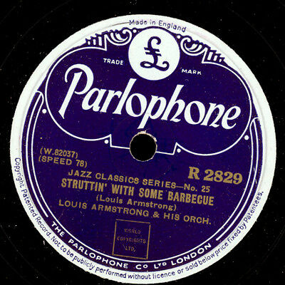LOUIS ARMSTRONG & HIS ORCH. Struttin' with some barbecue / Lonesome Road   X902