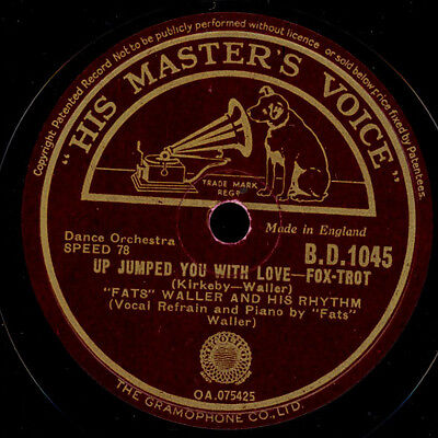 FATS WALLER & HIS RHYTHM Up jumped you with love / Romance a la mode 78rpm X1124