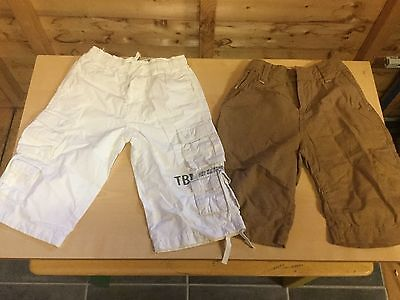 2x TIMBERLAND & NEXT Shorts Boys 8 years Old White & Sand