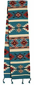El Paso Designs Hand-Woven Wool Southwest Table Runner, 10x80 IN, Dream Catcher