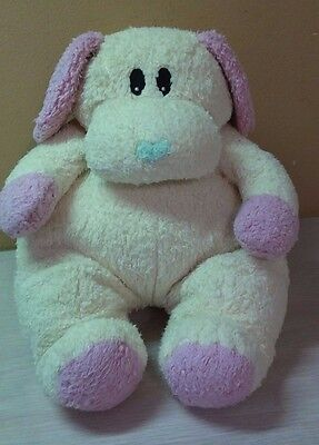 """1999 Retired Ty Pillow Pals Dogbaby Puppy Dog Rattle Plush 12"""" stuffed animal"""