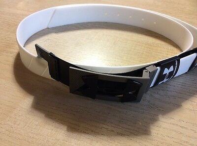 Under Armour Silicon Belt White One Size Fits All Metal Buckle