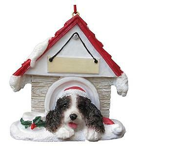 SPRINGER SPANIEL Doghouse Ornament -- PERSONALIZED FREE!