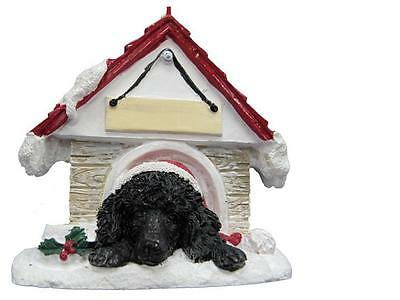 POODLE, BLACK Doghouse Ornament -- PERSONALIZED FREE!