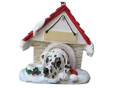 DALMATION Doghouse Ornament -- PERSONALIZED FREE!!