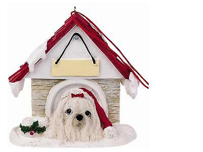 MALTESE Doghouse Ornament -- PERSONALIZED FREE!