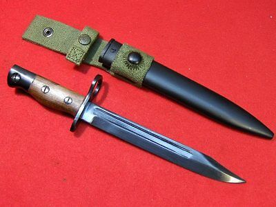 INDIAN WWII BRITISH SMLE LEE ENFIELD No 5 JUNGLE CARBINE BAYONET & SCABBARD