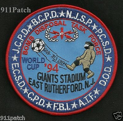 EAST RUTHERFORD, NJ - BOMB DISPOSAL TASK FORCE FBI ATF POLICE Patch