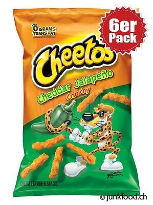 6er Pack Cheetos Crunchy Cheddar Jalapeno Cheese Snacks (6x241g)