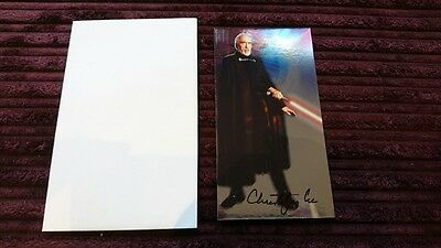 Christopher Lee SIGNED Count Dooku Trading Card Star Wars Attack of the Clones