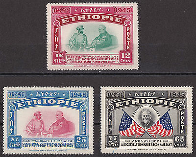 Ethiopia: 1947: Haile Selassie and Franklin D Roosevelt, Unmounted mint
