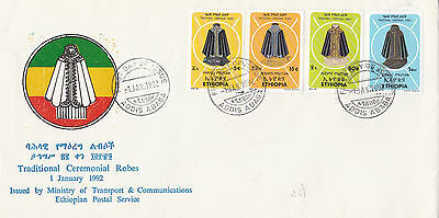 Ethiopia: 1992: Traditional Ceremonial Robes,  FDC