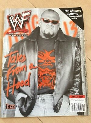 Wwf Magazine January 2001 Tazz Cover Wwe Wrestling Rare