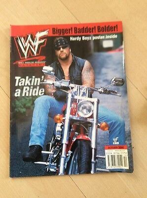 Wwf Magazine October 2000 Undertaker Wwe Wrestling Rare