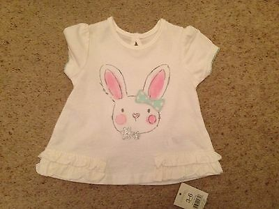 Baby Girls Short Sleeved Top From George  Age 3-6 Months  Bnwt