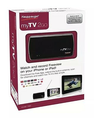 Hauppauge MyTV 2GO 1463 Portable Freeview TV Tuner For Apple A49LF - Brand New!