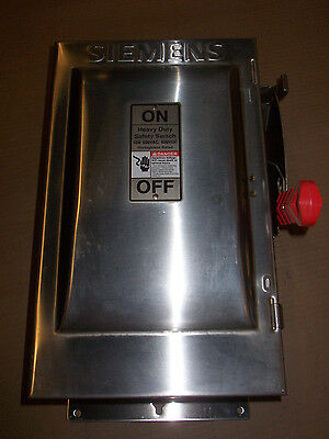 New Siemens HF362S 60 Amp 600v Fusible Stainless Steel Safety Switch Disconnect