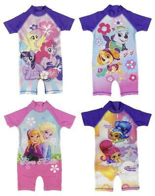 Girls Character All in One Surf Suit Good Coverage from UV Rays 1.5y to 4-5y