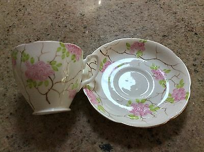 Retro Grafton Hand painted Cup And Saucer