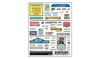 Assorted Business Signs - Woodland Scenics DT552 - free post