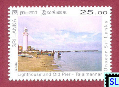 Sri Lanka Stamps 2016, Unseen, Talaimannar Lighthouse, Old Jetty, MNH