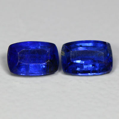 """1.32 Cts_Simmering Ultra Nice Color_100 % Natural Royal Blue Kyanite""""un-Heated"""
