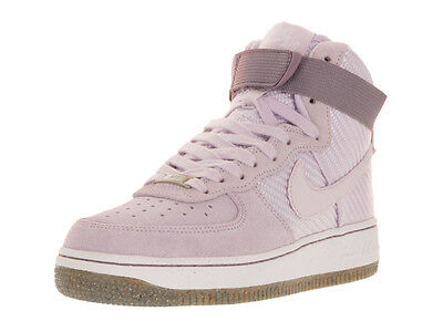 Nike Women's Air Force 1 Hi Prm Bleached Lilac/Bleached Lilac Basketball Shoe 7