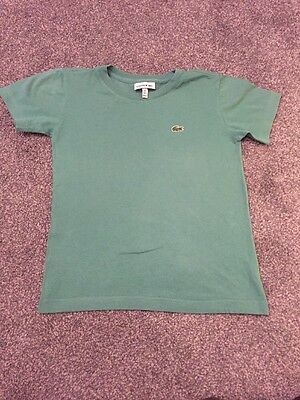 Boys Green Lacoste T Shirt Size 6