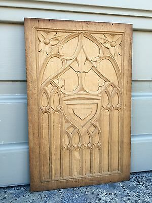 Nice Gothic Medieval Style Panel in wood/oak nr 12