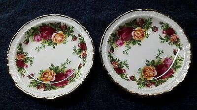 2 x ROYAL ALBERT OLD COUNTRY ROSES SMALL DISHES OR COASTERS 1ST UNUSED