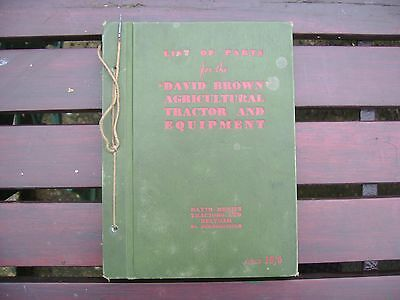 David Brown Agricultural Tractor & Equipment V.a.k. 1 Parts Book