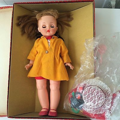 Vintage Horsman's  Doll With Box Plus Extras Rooster Dress Coat Red Shoes