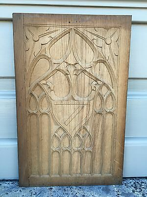 Nice Gothic Medieval Style Panel in wood/oak nr 16