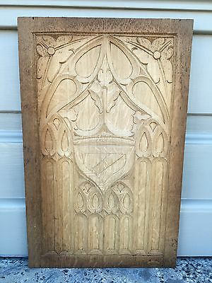 Nice Gothic Medieval Style Panel in wood/oak nr 17