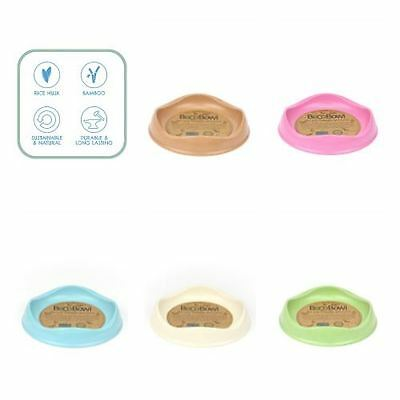 Beco Bowl Eco Friendly Cat Kitten Bowl Blue, Green, Pink, Natural, Brown