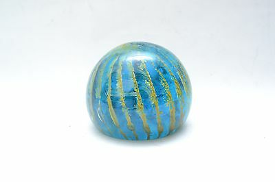 Signed Mid Century Vintage Mdina Art Glass large paperweight