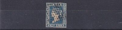 India  1854    S G 2  1/2A Blue  Used