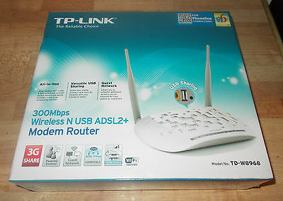 TP-Link TD-W8968 300 Mbps 10/100 Wireless N Router NEW SEALED