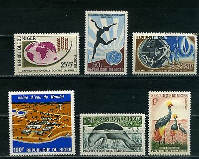 NIGER Selection of 6 mint stamps