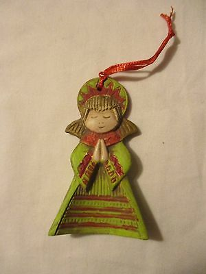Christmas Decoration--Clay Hand Painted Angel Ornament