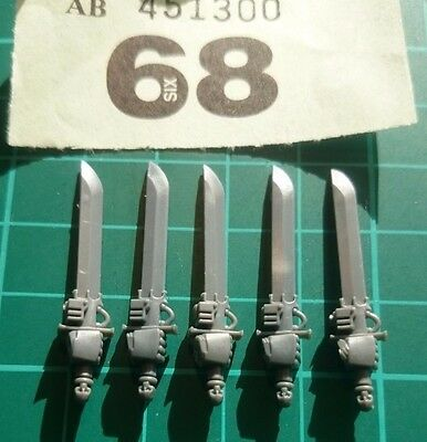 5 Grey Knight Nemesis Falchions/ Power Swords, Space marines, WH40k, Bits/spares