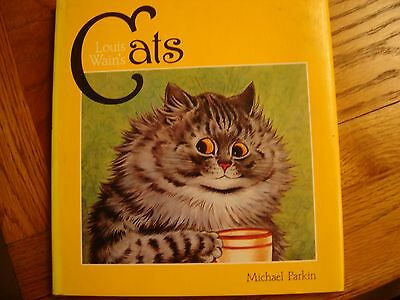 Louis Wain Cat Book Compiled & Signed by Michael Parkin 1983