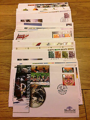 Job Lot of 54 UK GB FDC's First Day Covers from 2001 to 2004 Lot #A131